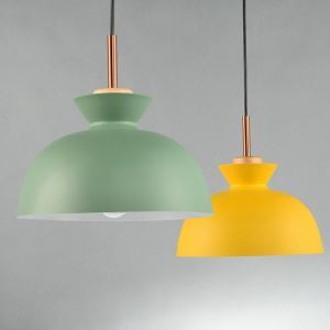 Nordic Simple Pendant Light Creative Dining Room Study Room Bedroom light Single Light Green and Yellow