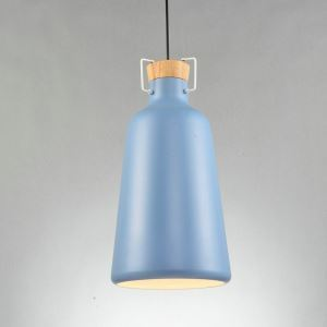 Nordic Simple Pendant Light Sky Blue Creative Dining Room Study Room Bedroom light Single Light