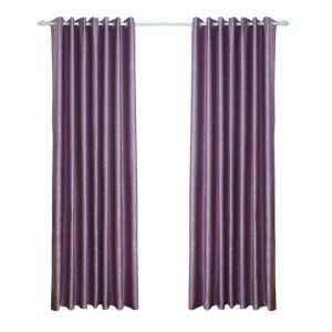 European Style Purple Pearl Velvet Blackout Curtains Advanced Customization