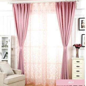 Modern Simple Plain Color Linen Advanced Custom Curtains Living Room Dining Room Curtains