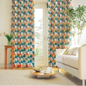 Nordic Style Geometric Printing Pattern Advanced Custom Curtains
