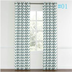 Nordic Style Wavy Printing Pattern Advanced Custom Curtains
