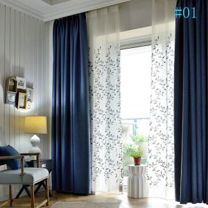 Nordic Modern Solid Color Curtain Black Silk Blackout Cotton and Linen Curtains