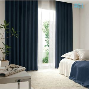 Modern Simple New Arrival Retro Matte Full Blackout Black Silk Dutch Velvet Curtains Environmental Blackout Warm Thicken Curtains