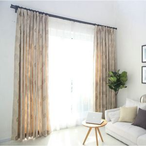 American Countryside Winter Thicken Curtains New Leaves Pattern Chenille Jacquard Curtains Super Thick Advanced Custom