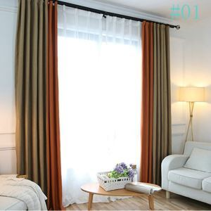 Nordic Japanese Style Curtains Solid Color Cotton and Linen Curtains Advanced Customization