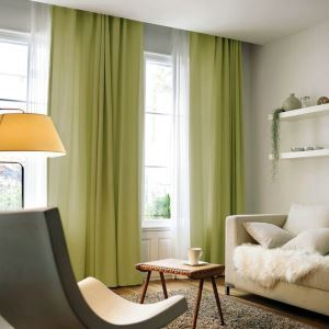 Modern Simple Solid Color Linen Curtain Advanced Custom Curtains
