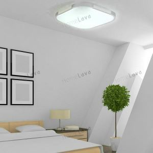 (EU Stock) Modern LED Flush Mount Light Aluminum Acrylic Electroplating Energy Saving Cool White (Sunshine In My Sky)