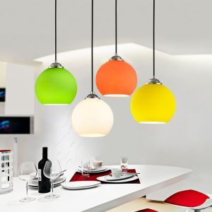 Modern Pendant Light Minimalist Bubble Glass Pendant Light Ceiling Lights Fixtures Interior Lighting 1 Light Dining Room Living Room Bedroom Ceiling Lights