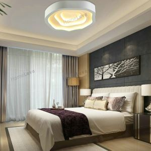(EU Stock) Modern Simple Fashion LED Metal White Flush Mount Light Living Room Bedroom Study Room Dining Room Energy Saving Warm White(Sunshine In My Sky)