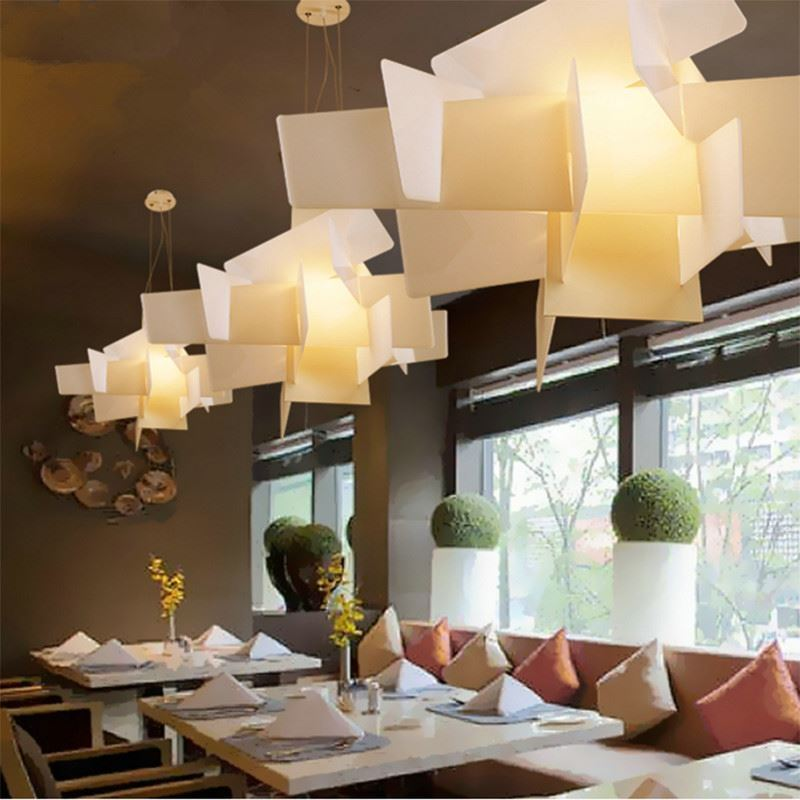 (UK Stock)Modern Ceiling Light White Explosion Acrylic Chandeliers Living  Room Dining Room Light