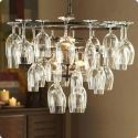 Wine Glass Holder Light Fixture Dining Table Lighting with 6 Lights (Wine Glass NOT Included)