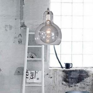 (EU Stock)Clear Mouth-Blown Glass Modern Minimalist Pendant Light with 1 Light Dining Room Lighting Ideas Living Room Lighting Bedroom Ceiling Lights Clear(Enbrace Me)