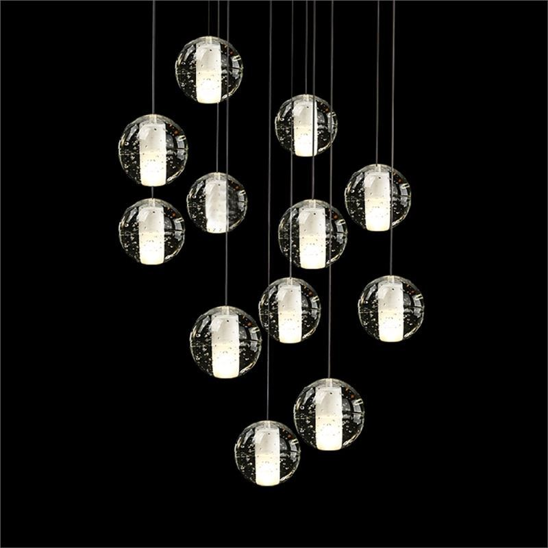 simple crystal ball pendant light. (UK Stock) Contemporary Simple Electroplated Craftsmanship Transparent Crystal Ball Pendant Light Energy Saving Warm