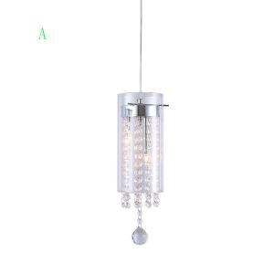 Artistic Crystal Pendant Lights with Green/Clear Decorations 1 Light