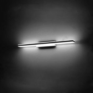 (EU Stock) Modern Contemporary Chrome Finish 12W led Mirror Wall Light with Acrylic Shade Cool White