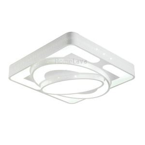 Modern Simple Fashion LED Acrylic White Square Flush Mount Light Living Room Bedroom Dining Room Study Room Energy Saving(Sunshine In My Sky)