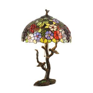 (In Stock)Authentic Tiffany 16 inch Luxury Chinese Classical American Retro Creative Table Lamp(Enchanted Garden)