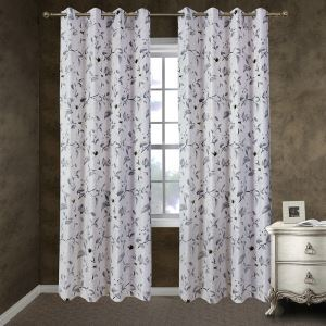 Customize Curtains Ink Magnolia Flower
