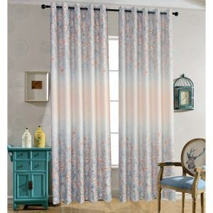 Fantastic Small Flowers Polyester Ramie Printed Curtains Customize Curtains