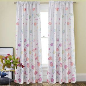 Pink Ocean Colorful Fish Childlike Curtain Customize Curtains