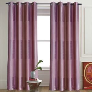 Coffee Purple Gradient Semi-shading Curtain Customize Curtains