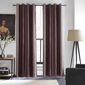 Purple Curve Gradient Blackout Curtains Customize Curtains