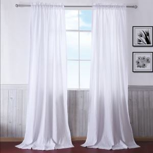 100% Natural Linen Bleached Thin Model Sheer Curtains Customize Sheer Curtains