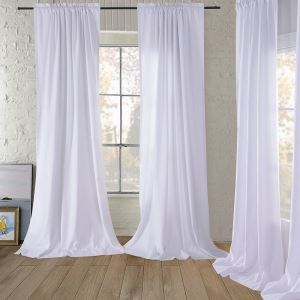 Natural Linen Bleached Medium Thick Curtains Customize Curtains