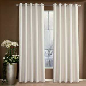 Beige Weaving Texture Blackout Polyester Ramie Curtains Customize Curtains