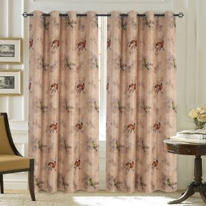 American Retro Flowers and Birds Blackout Curtains Customize Curtains