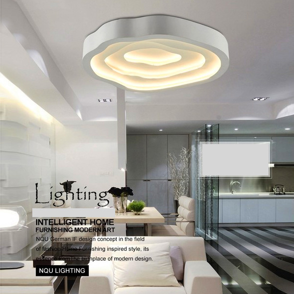 Modern Simple Flush Mount Fashion Led Metal White Flush