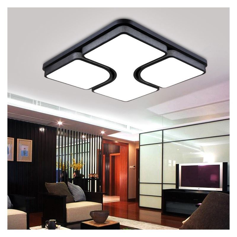Modern Simple Flush Mount Fashion LED Dimmable Acrylic Square Living Room Bedroom Dining