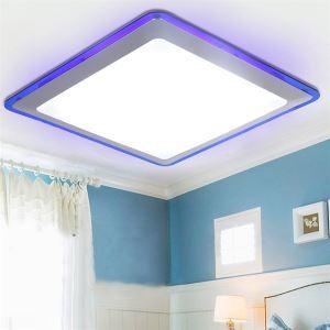 (EU Stock) Flush Mount LED Modern  Contemporary Living Room  Bedroom  Kitchen  Bathroom  Study Room  Office  Kids Room  Garage Metal Cool White(Sunshine In My Sky)