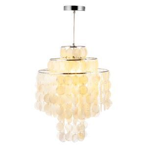 Modern Simple Style Chandelier Shell Pendant Chrome Craft Bedroom Living Room Dining Room Kitchen Lighting