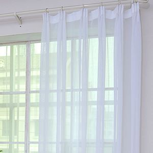 ( One Panel )Modern Ramie Sheer Curtains Advanced Customization