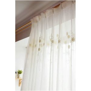 ( One Panel )American Pastoral Sheer Curtains Advanced Customization Caddice Embroidery Pattern