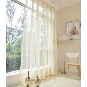 ( One Panel )American Pastoral Sheer Curtains Advanced Customization Lace Pattern
