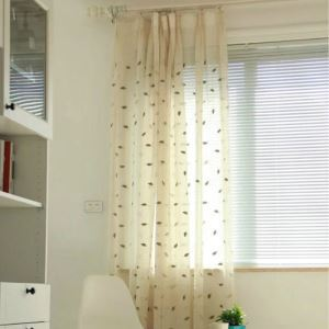 ( One Panel )American Pastoral Sheer Curtains Advanced Customization Embroidery Pattern