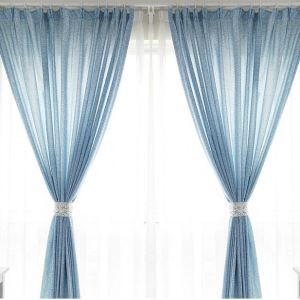( One Panel )Nordic Style Abstract Pattern Curtains Advanced Customization