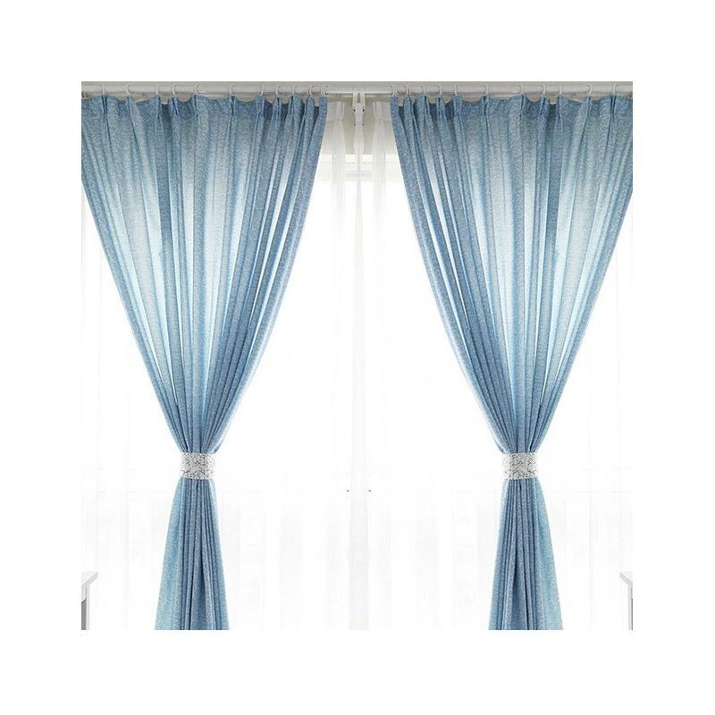 One Panel Nordic Style Abstract Pattern Curtains