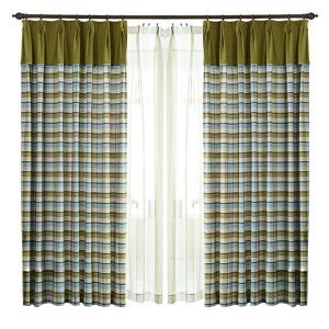 ( One Panel )American Pastoral Curtains Advanced Customization Lattice Pattern