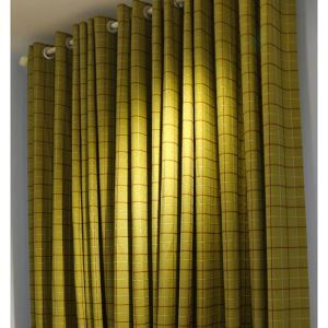 ( One Panel )American Pastoral Curtains Advanced Customization Lattice Pattern Curtain