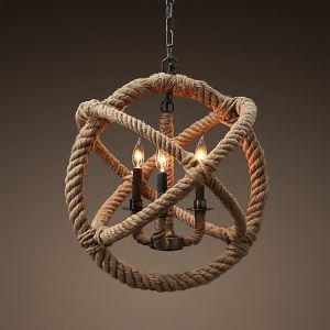(In Stock) Pendant Lights Traditional Classic Rustic Lodge Vintage Retro Country Living Room Bedroom Dining Room Lighting Ideas Lighting Study Room Office  Hallway Metal Ceiling Lights(Candle Of Heart)