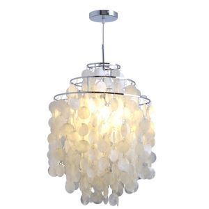Ceiling Lights Modern Chandelier White Shell Pendant Lights Lamp with 1 Light(Wind Chime Dance) (Bulb Not Included)