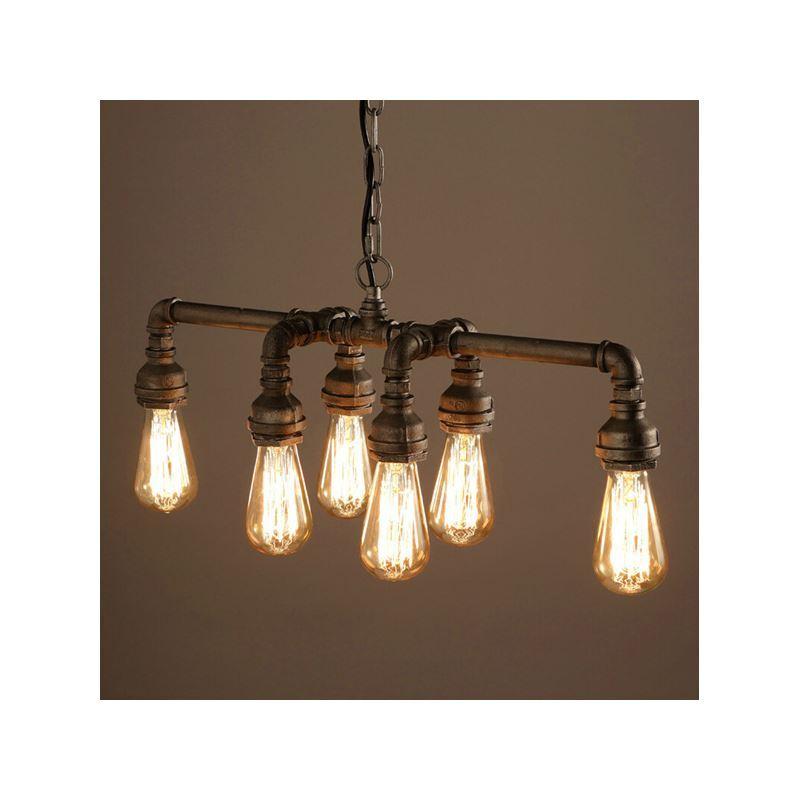 In Stock Ceiling Lights Edison Retro Loft Style Vintage Pendant Light Lamp Metal Water Pipeluminaire Lampara Colgantes Love Destiny