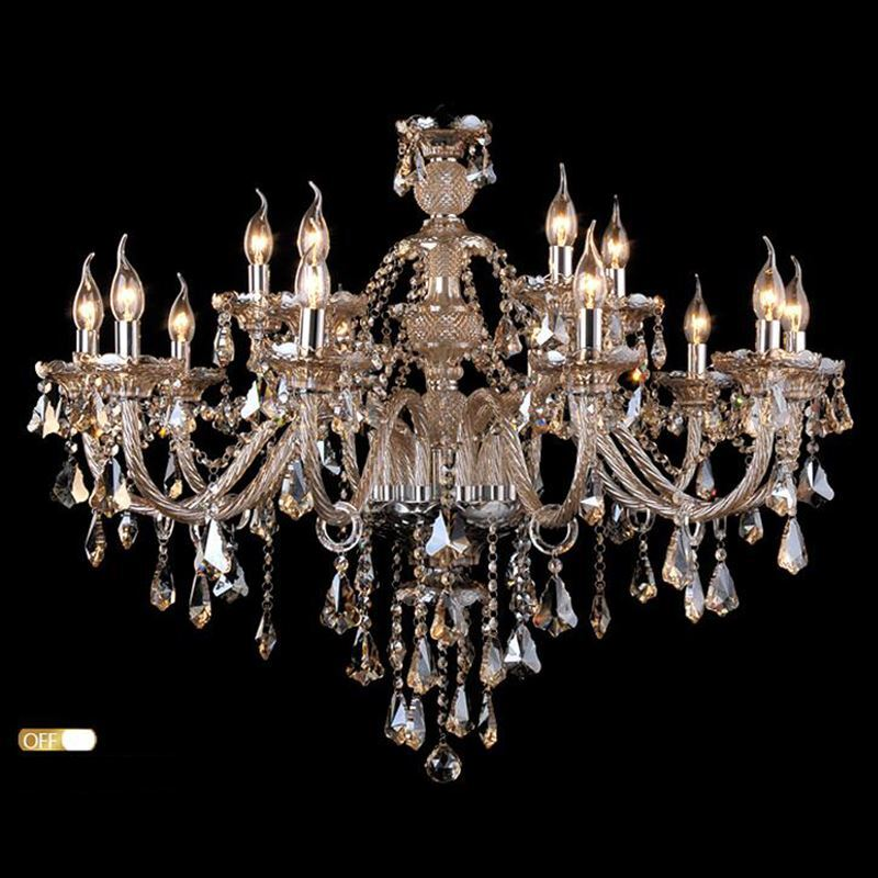 In Stock Ceiling Lights Chandelier Crystal Cognac Color