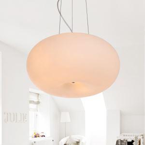 White Pendant Light with 2 Lights