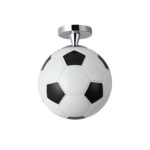 Modern Semi Flush Mount Ceiling Light with Football Feature