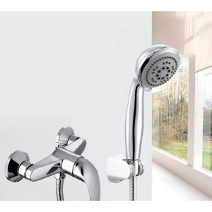 Circle Chrome Finish ABS Handle Shower Head
